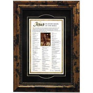 JESUS IN EVERY BOOK OF THE BIBLE FRAMED PRINT